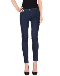 40Weft Trousers Casual Trousers Women Dark Blue