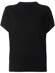 Vince Cap Sleeve Knitted Blouse Black