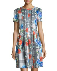 Catherine Catherine Malandrino Floral Print Fit And Flare Scuba Dress Multi