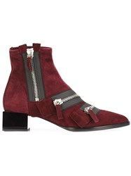 Pierre Hardy 'Lou' Ankle Boots Red