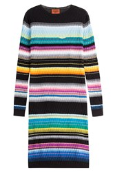 Missoni Stripped Knit Cotton Blend Dress Multicolor