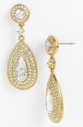 Women's Nadri Pear Drop Earrings Gold Clear