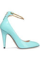 Gucci Patent Leather Pumps Turquoise