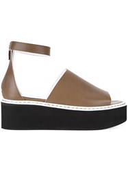 Scanlan Theodore Ankle Strap Platform Sandals Brown