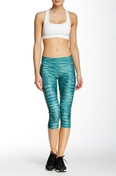 Bally Total Fitness Space Dye Capri Legging Green