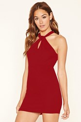 Forever 21 Keyhole Bodycon Dress Red