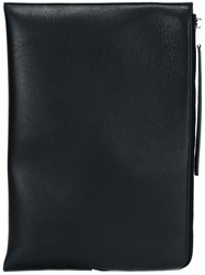 Rick Owens Large Zipped Clutch Black