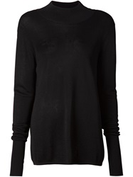 Dion Lee Open Back Knit Top Black
