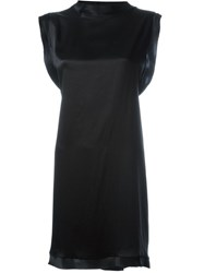 Aries Twisted Open Back Dress Black