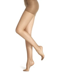 Berkshire Sheer Queen Size Silky Extra Wear Control Top With Reinforced Toe Hosiery Off Black