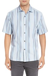 Tommy Bahama Men's Big And Tall 'Rumway Stripe' Silk And Cotton Camp Shirt