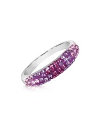Gis Le St.Moritz St. Moritz Fantasmania Purple Crystal Band Ring