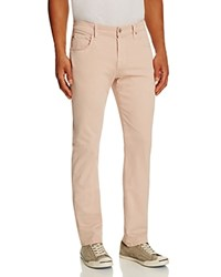 7 For All Mankind Luxe Performance Sateen New Tapered Fit Jeans In Light Pink Light Khaki