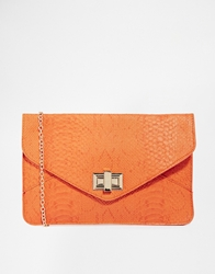 Liquorish Tan Snakeskin Effect Envelope Clutch Bag Tansnakeskin