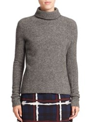Marc By Marc Jacobs Merino Wool Blend Turtleneck Sweater Dark Grey Melange