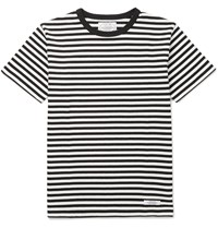 Neighborhood Striped Cotton Jersey T Shirt Black