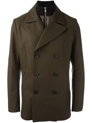 Theory Double Breasted Coat Brown