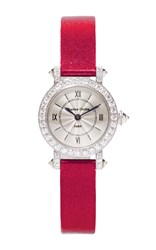 Charles Oudin 18K White Gold Small Aster Retro Watch Silver