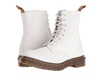 Dr. Martens Pascal 8 Eye Boot White Virginia Women's Lace Up Boots