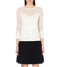 Reiss Shell Lace Top Off White