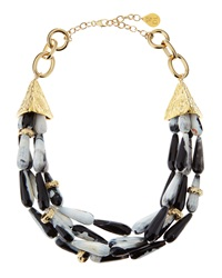 Devon Leigh Snow Leopard Agate Necklace
