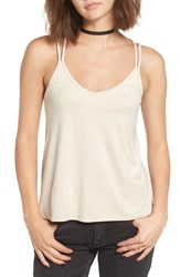 Sun And Shadow Women's Strappy Faux Suede Tank