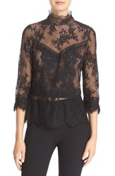 Tracy Reese Women's Chantilly Lace Victorian Blouse