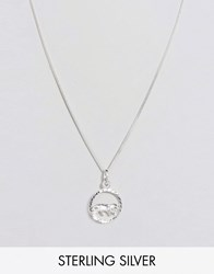 Reclaimed Vintage Leo Zodiac Sterling Silver Necklace Silver