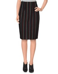 Pf Paola Frani Knee Length Skirts Black