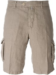 Kiton Lightweight Cargo Shorts Brown