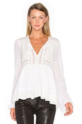 Marissa Webb Bella Silk Blouse White