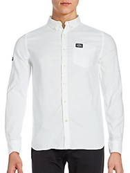 Superdry Bay View Button Down Shirt Optic White