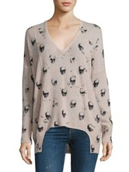 360Cashmere Hollis Cashmere Skull Print Sweater Wallflower Charcoal Skulls