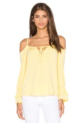 Vava By Joy Han Fanya Open Shoulder Top Yellow