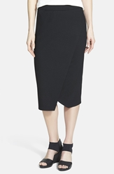Eileen Fisher Faux Wrap Jersey Skirt Regular And Petite Black