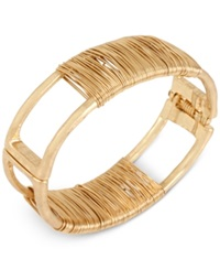 Robert Lee Morris Soho Gold Tone Wire Wrapped Bangle Bracelet