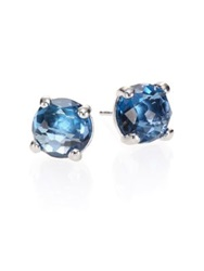 Ippolita Rock Candy London Blue Topaz And Sterling Silver Stud Earrings Silver Blue