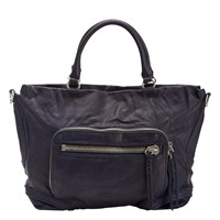 Liebeskind Kumamoto Leather Tote Bag Midnight Blue
