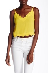 Lush Scallop Edge Cami Yellow