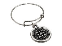 Alex And Ani Expandable Ring Silver Compass Ring Black
