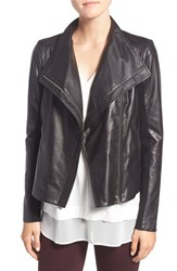 Trouve Women's Leather Moto Jacket