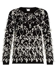 Max Mara Tione Reversible Sweater Black White