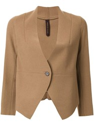 Miharayasuhiro Single Button Blazer Brown
