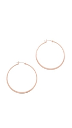 Jennifer Zeuner Jewelry Small Hoop Earrings Rose Gold