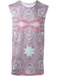 Dresscamp Paisley Print Tank Top Pink And Purple