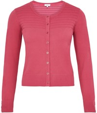 Cc Petite Placement Ripple Stitch Cardigan Rose