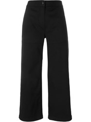 T By Alexander Wang Wide Leg Trousers Black