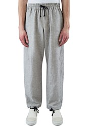 Abasi Rosborough Arc Chrysalis Relaxed Fit Linen Pants Grey