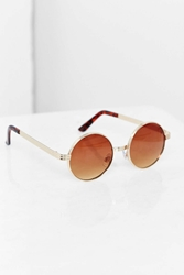 Urban Outfitters Bottle Cap Round Sunglasses Gold