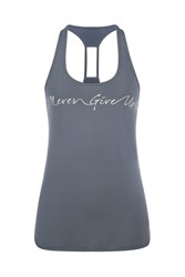 Lorna Jane Runners Split Excel Tank Grey